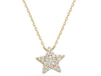 Collier or étoile oxydes blancs