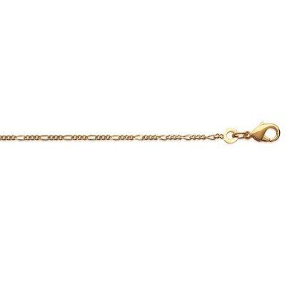 Chaine or figaro fine