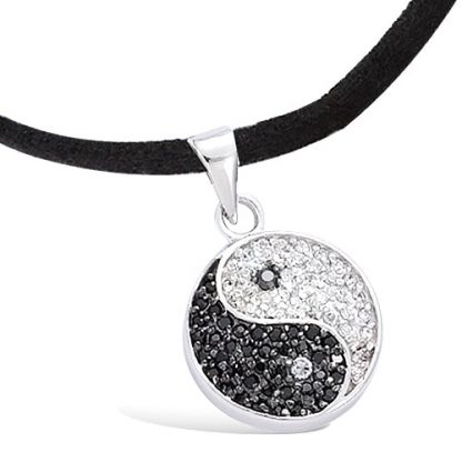 Pendentif argent Ying Yang oxydes