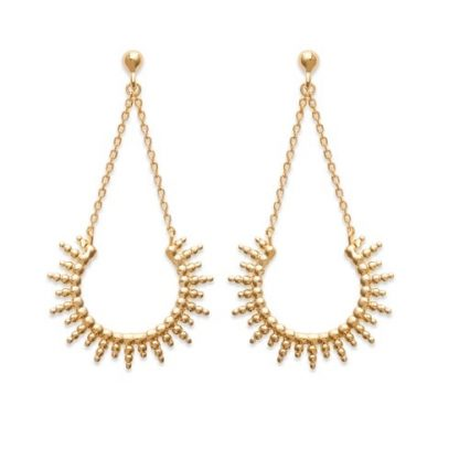Boucle oreille or soleil