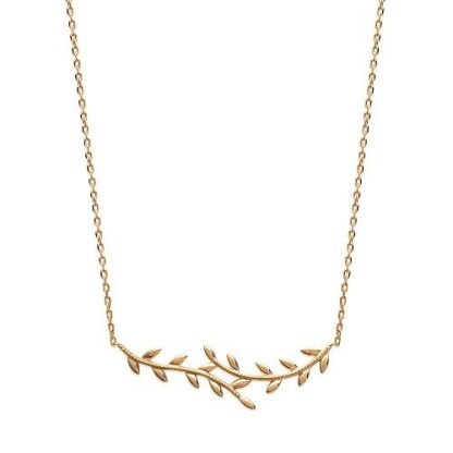 Collier or feuillage lisse