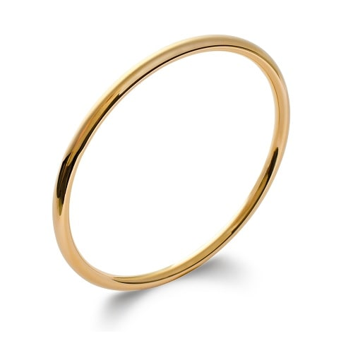 Bracelet jonc or anneau rond