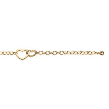 Bracelet or petit coeurs entrelacs