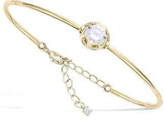 Bracelet or jonc chainette lisse