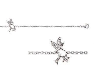 Bracelet argent ange étoile