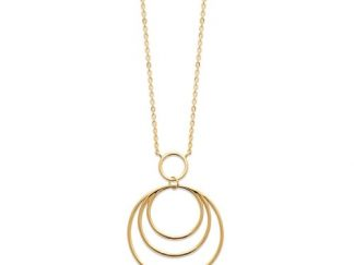 Collier or triple anneaux