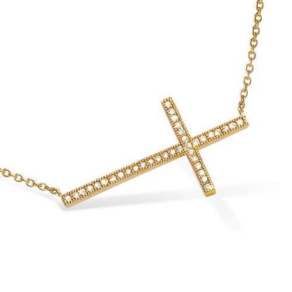Collier or grande croix oxydes