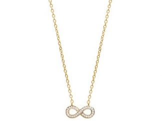 Collier or infini bicolore oz