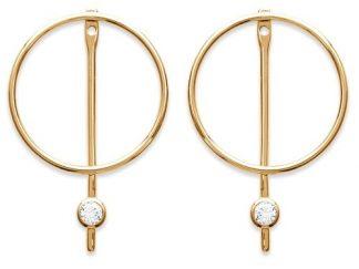 Boucle oreille or cercle barre oz