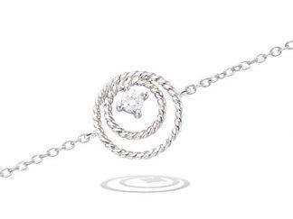 Bracelet argent double cercle