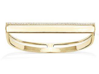 Bracelet jonc or semi carre