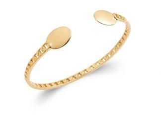 Bracelet jonc or amande