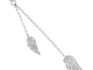 Collier argent ailes oiseau