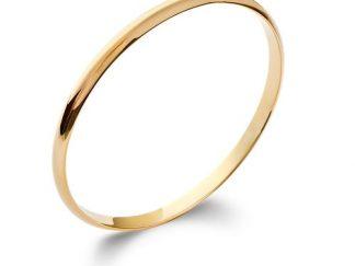 Bracelet jonc or carré