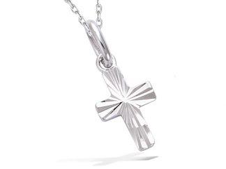 Pendentif argent croix diamantée