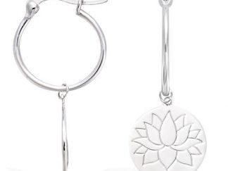 Mini créole argent fleur lotus