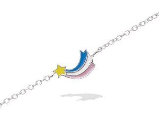 Bracelet argent étoile filante