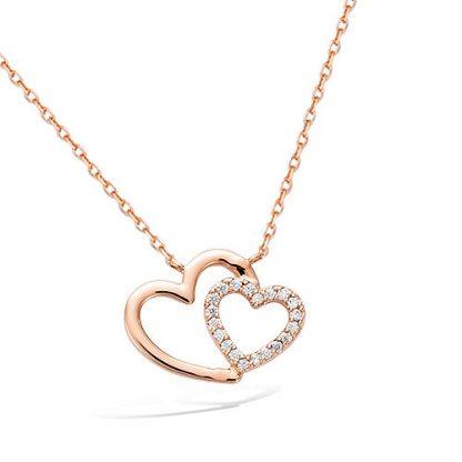 Collier or coeur croisé oxydes