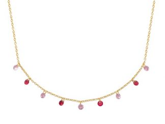Collier or pampilles multicouleurs