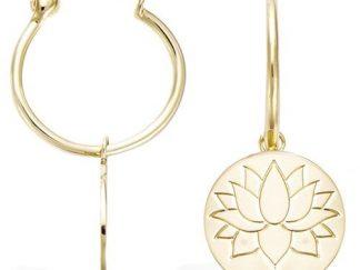 Mini créole or fleur lotus