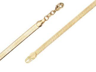 Bracelet or maille miroir