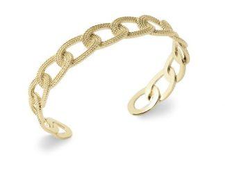 Bracelet jonc or maille cheval