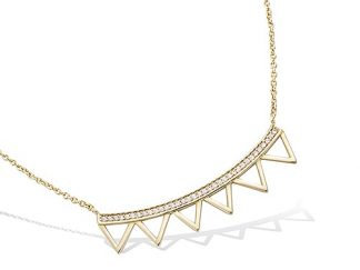 Collier or barre multi triangles