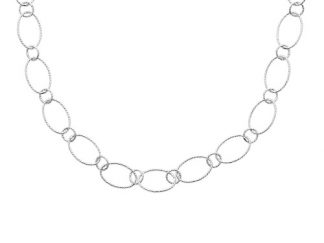 Collier argent anneaux ovales