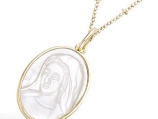 Pendentif or portait Vierge Marie