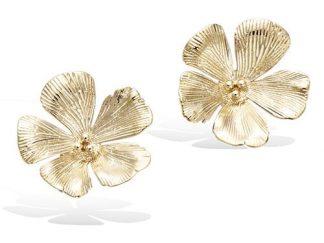 Boucle oreille or fleur cerisier