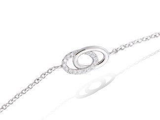 Bracelet argent double ovale