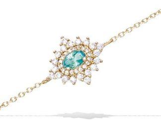 Bracelet or étoile scintillante