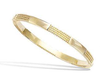 Bracelet jonc or alternance lisse
