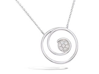 Collier argent spirale oxydes