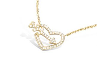 Collier or coeur flèche oxydes