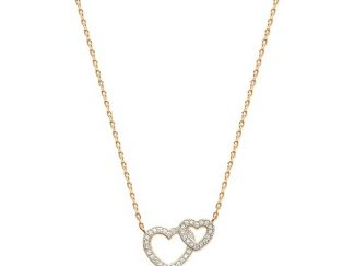 Collier or double coeur oz