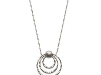 Collier argent triple cercles