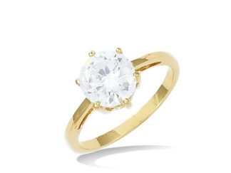 Bague solitaire or oxyde 8mm