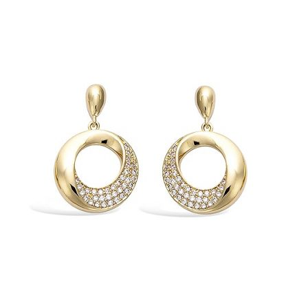 Boucle oreille or cercle oxydes
