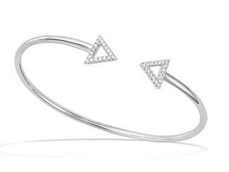 Bracelet argent double triangle