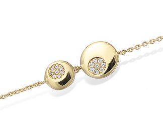 Bracelet or deux disques oxydes