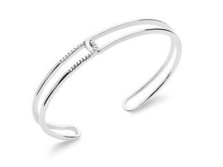 Bracelet jonc rectangle entrelacs