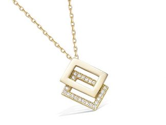 Collier or rectangle superposé