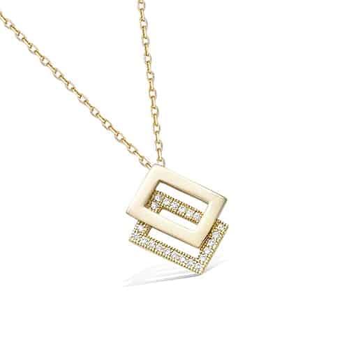 Collier or rectangle superposé