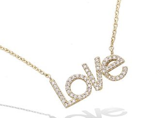 Collier or Love pavé oxydes