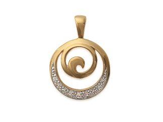 Pendentif or spirale oz