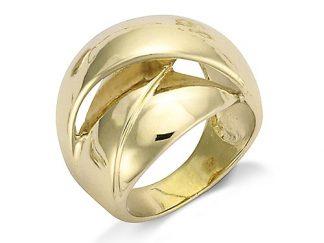 Bague or anneau entrelacé