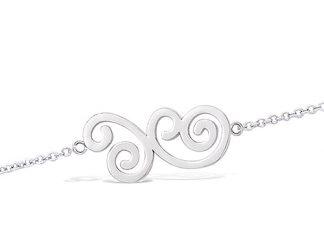 Bracelet argent arabesque