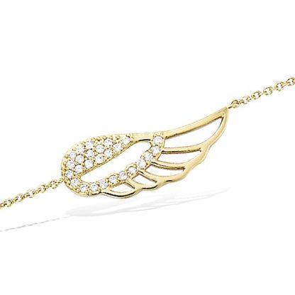 Bracelet or aile ajourée oxydes