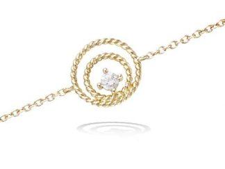 Bracelet or double cercle tresse